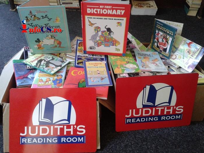 Donație de cărți, în limba engleză