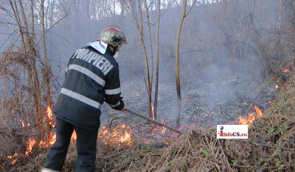 Amplu exercitiu al pompierilor militari in padurile din Caras si Hunedoara VIDEO