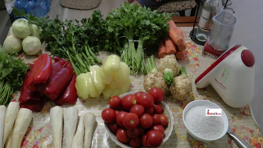 Zarzavat conservat pentru supă, pus la cămară pentru la iarna VIDEO