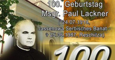 Spre aducere aminte: Centenar Monseniorul Paul Lackner