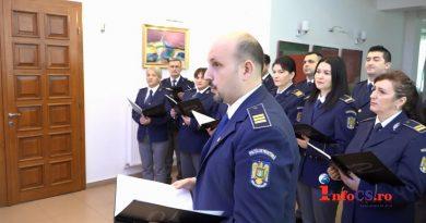 Colindul romanesc daruit de politistii de frontiera caraseni VIDEO