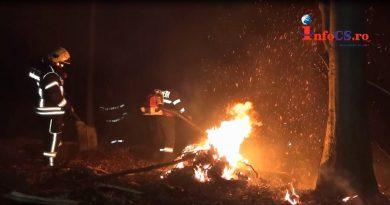 Incendiu de vegetaţie şi de pădure pe Dealul Ciorii lângă Reşița EXCLUSIV VIDEO