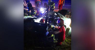 Grav accident aseară cu decesul soferului la Valea Popii