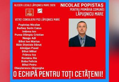Nicolae Popistaș împreună cu echipa sa – Pentru Lăpușnic, pentru cetățeni