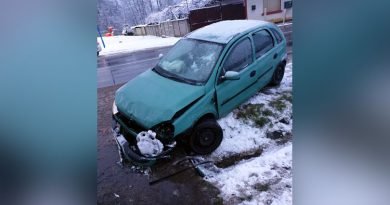 Accident de circulație la intrarea în Oțelu Roșu – Doi tineri la spital