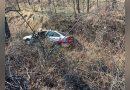 Accident de circulație lângă Reșița în zona Km8 – Un autoturism a sărit în râpă VIDEO