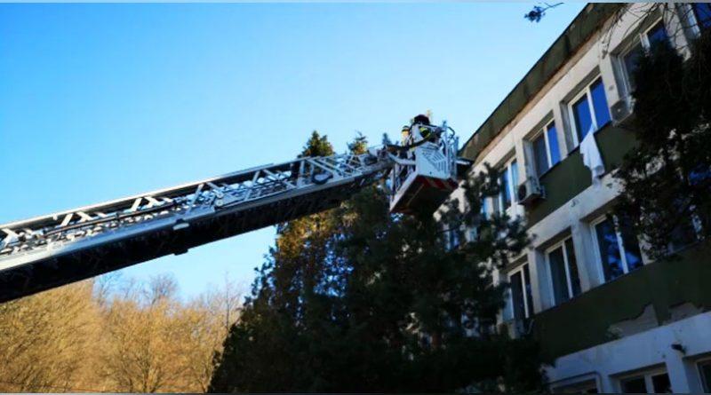 Incendiu într-un salon de la Secția Reanimare a Spitalului Județean de Urgență Reșița – Exercițiu al pompierilor militari VIDEO
