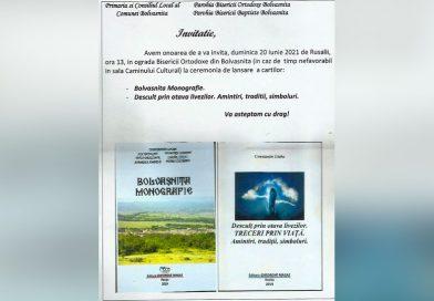 Eveniment cultural de Rusalii la Bolvașnița – Dublă lansare de carte