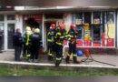 Foc la un magazin de telefoane din Bocșa Română VIDEO