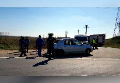 Accident carambol cu 3 autoturisme pe DN58B VIDEO